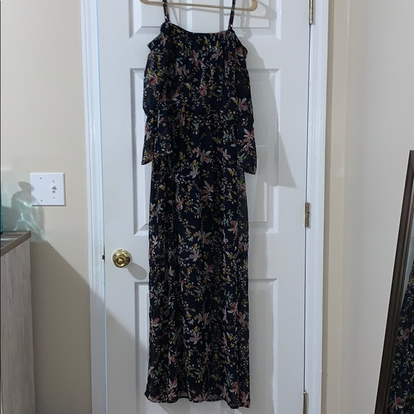 Lily Rose Dresses & Skirts - Floral Off-the-Shoulder Maxi Dress